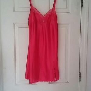 Victoria's Secret Red Side-slit Chemise